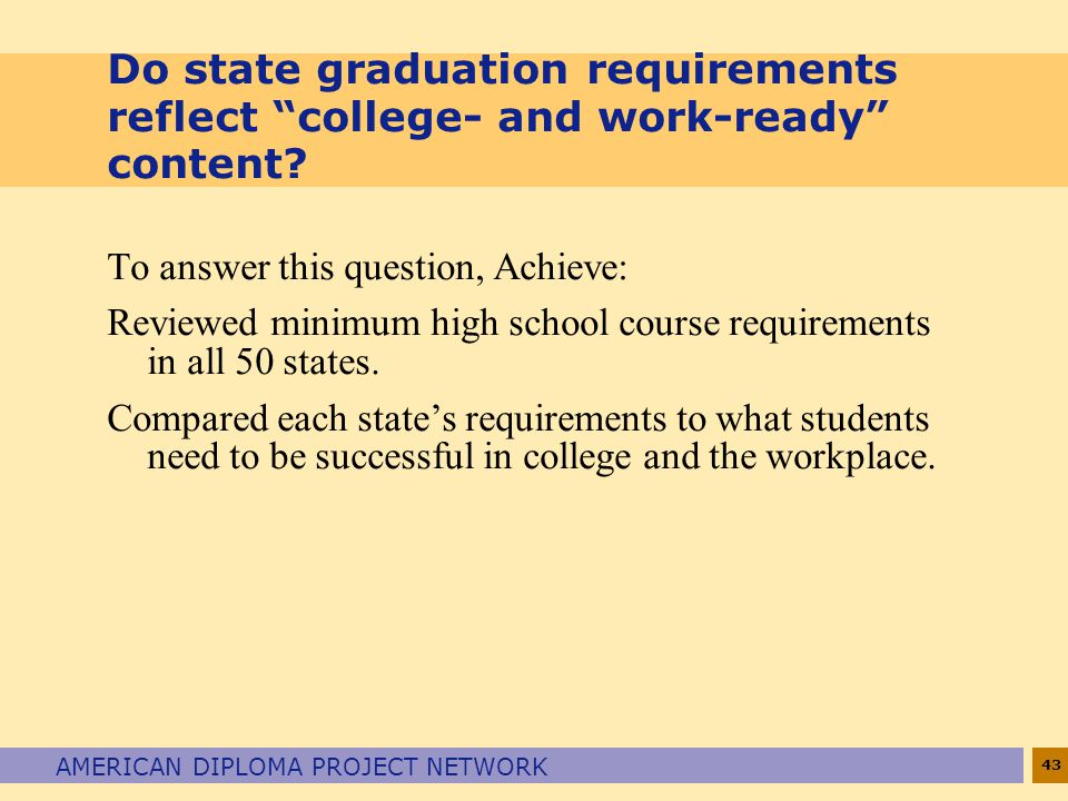 Do state graduation requirements reflect college- and work-ready content