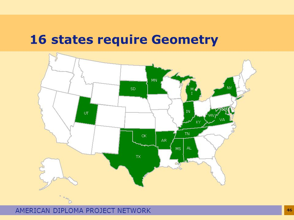 16 states require Geometry