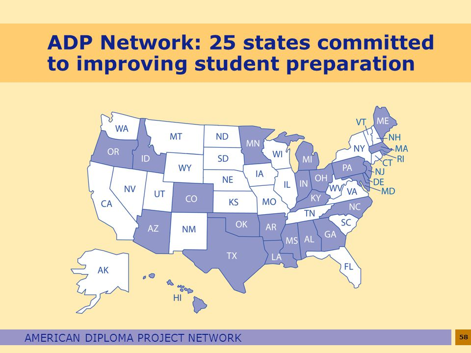 ADP Network: 25 states committed to improving student preparation