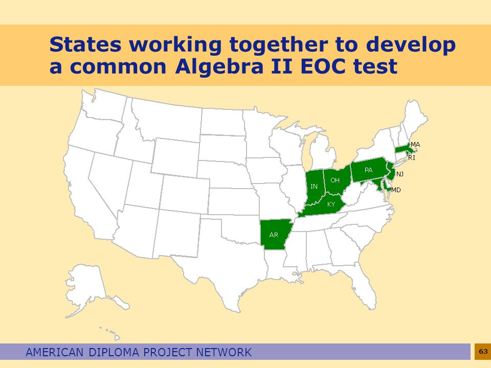 States working together to develop a common Algebra II EOC test