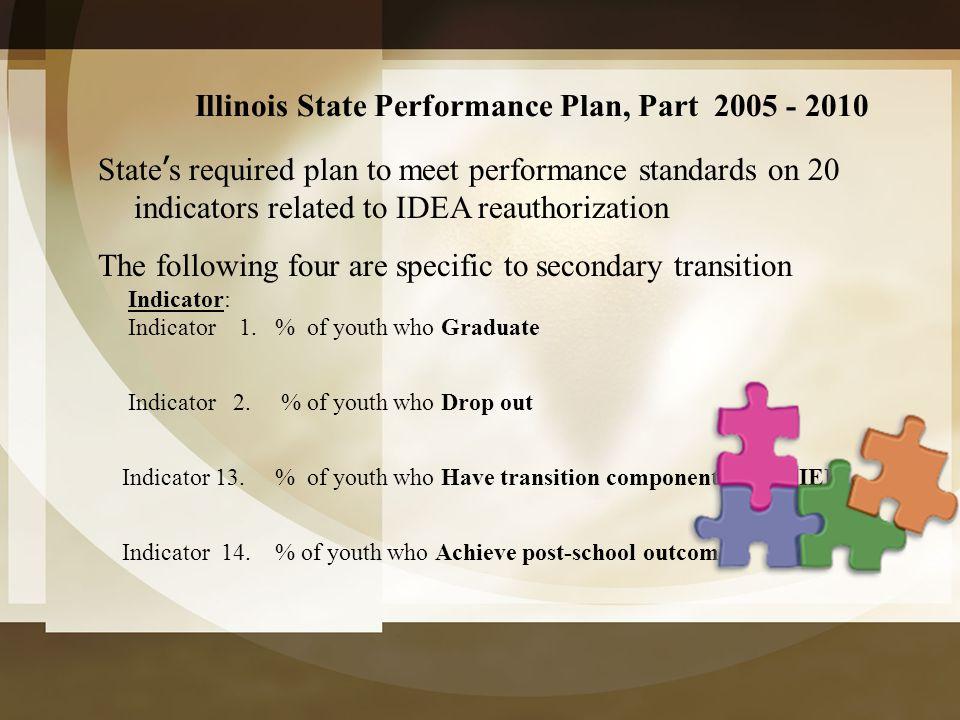 Illinois State Performance Plan, Part 2005 - 2010