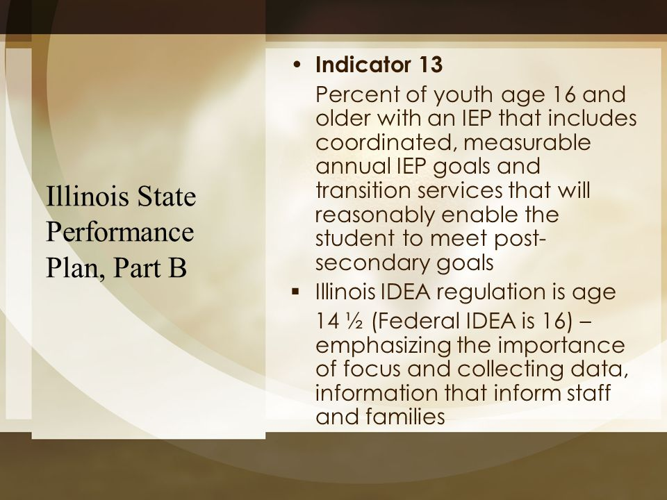 Illinois State Performance Plan, Part B