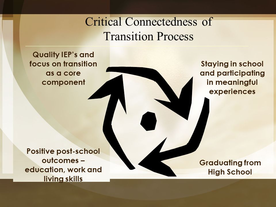 Critical Connectedness of Transition Process