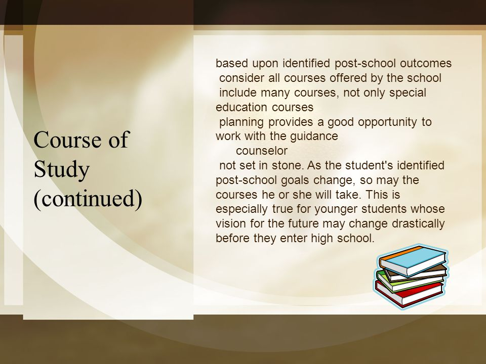 Course of Study (continued)