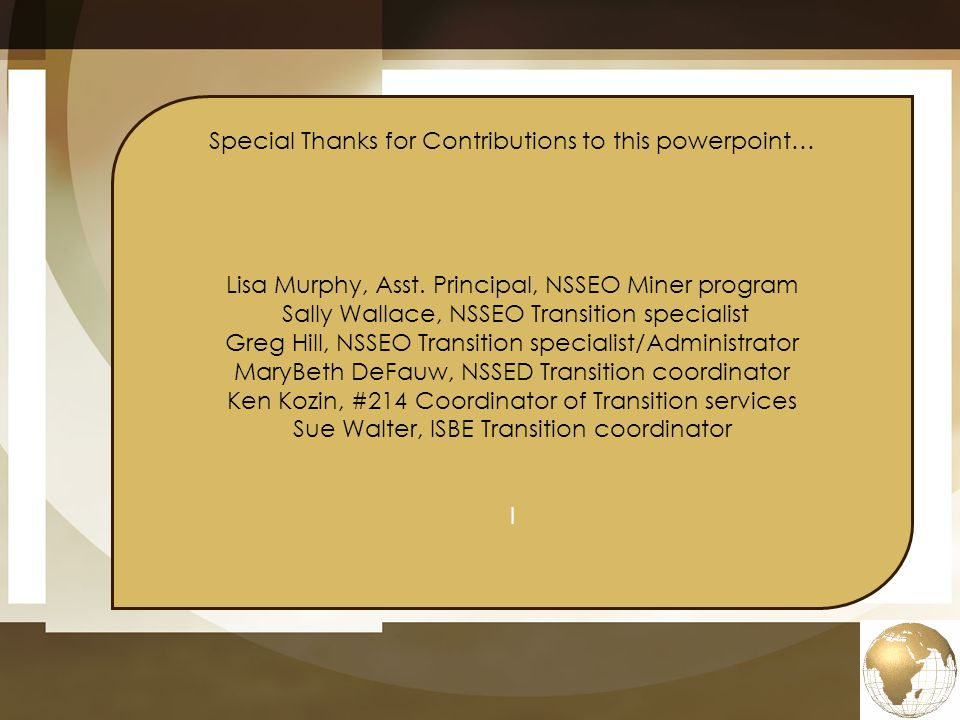 Special Thanks for Contributions to this powerpoint…