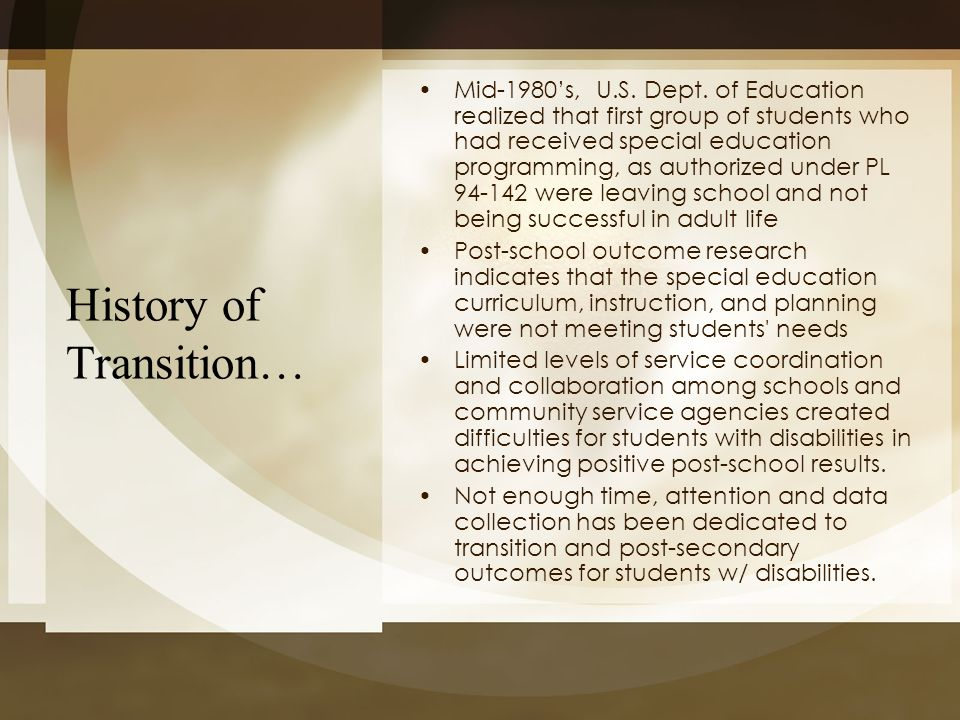 History of Transition…