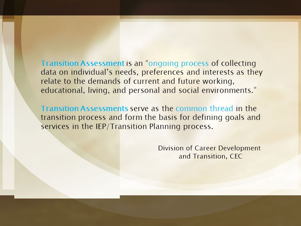 Division of Career Development and Transition, CEC