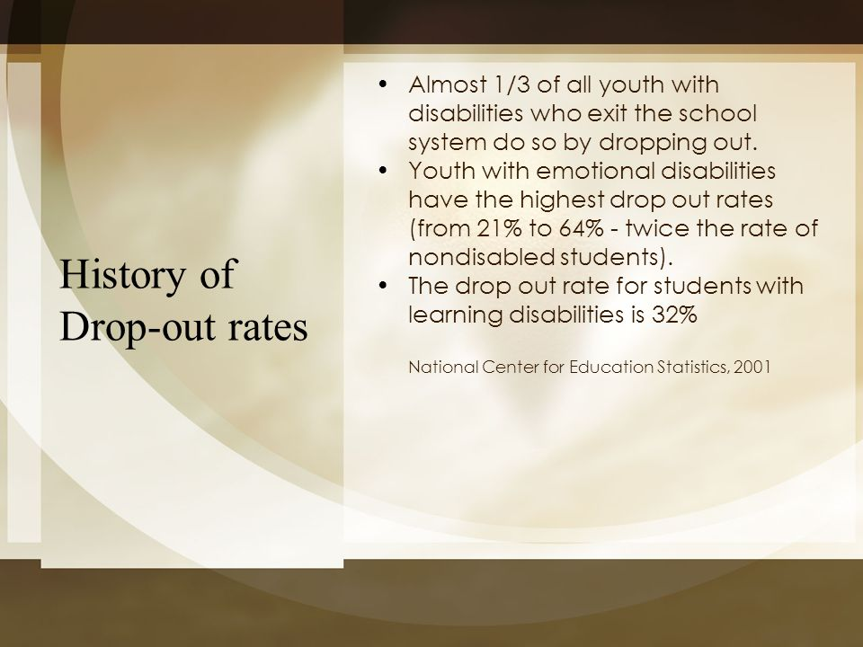 History of Drop-out rates