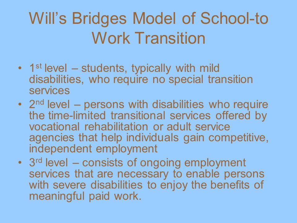Will's Bridges Model of School-to Work Transition
