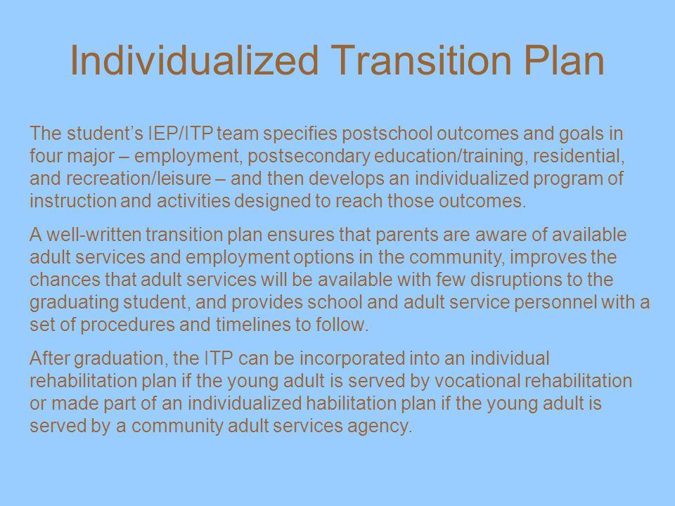 Individualized Transition Plan