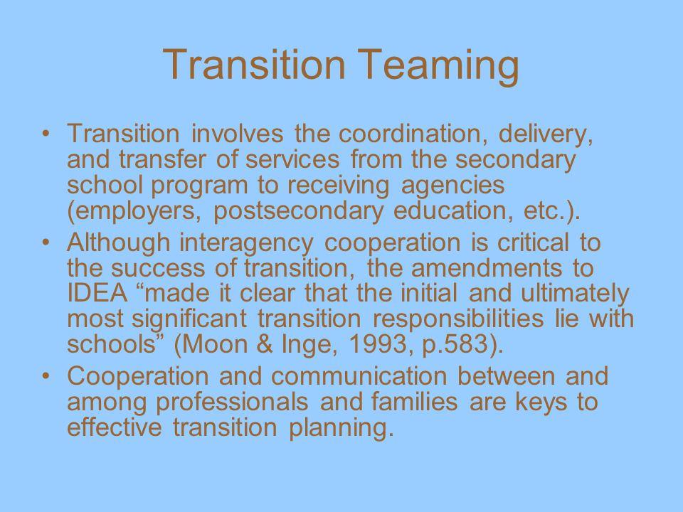 Transition Teaming
