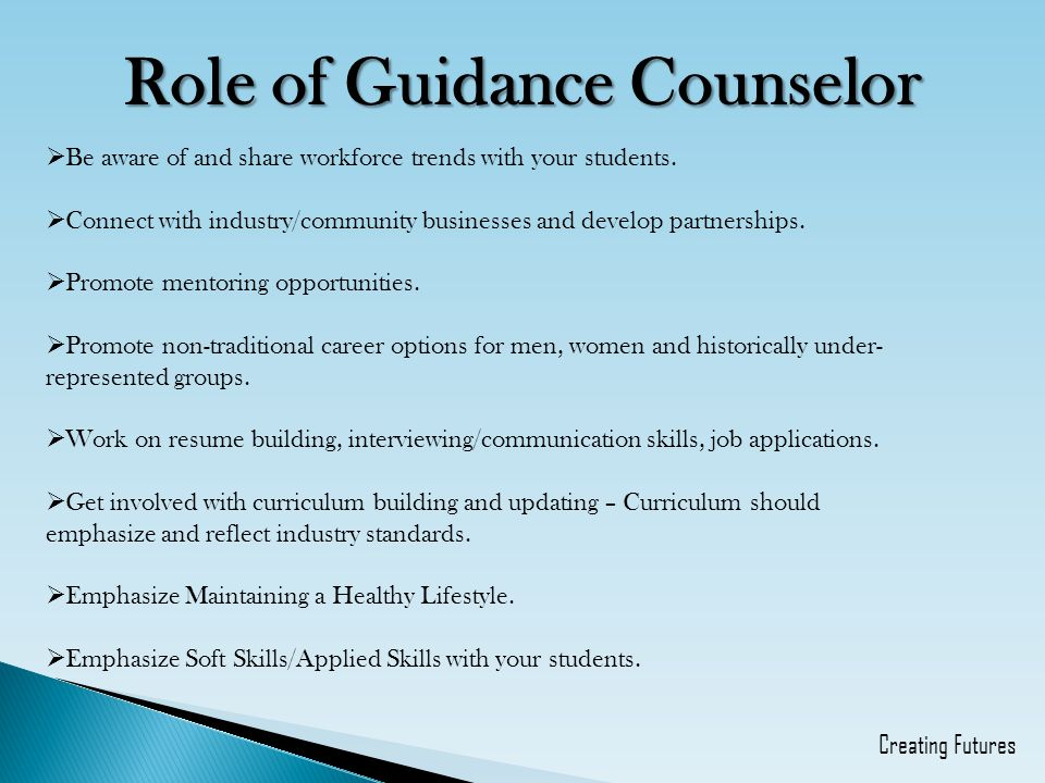 Role of Guidance Counselor