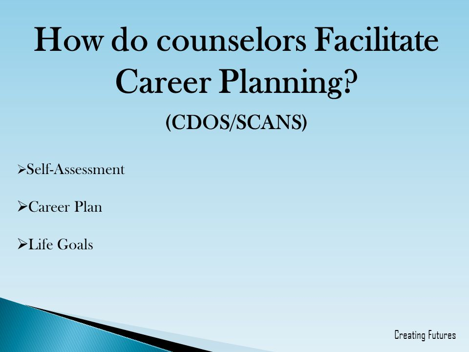 How do counselors Facilitate