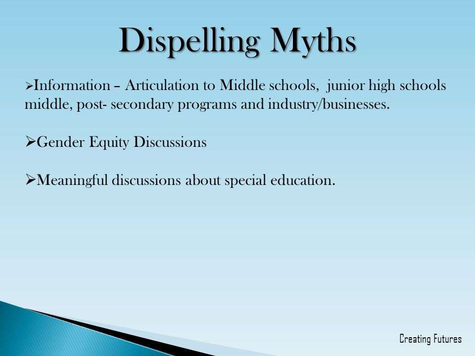 Dispelling Myths Gender Equity Discussions