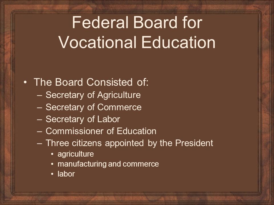 Federal Board for Vocational Education