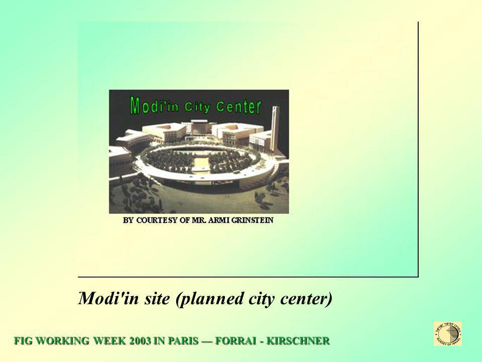 Modi in site (planned city center)ׁ