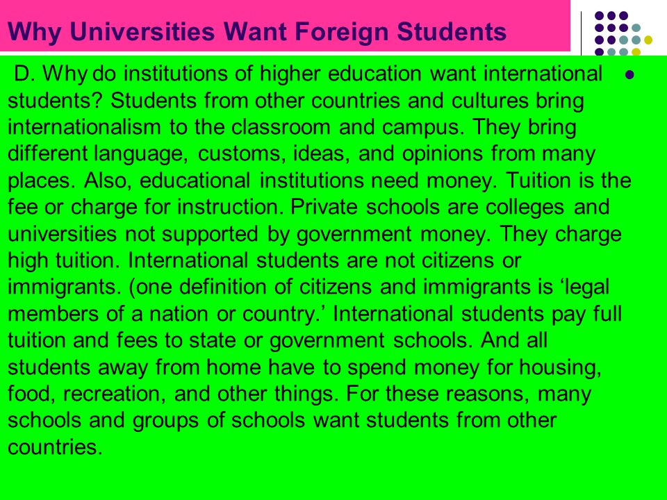 Why Universities Want Foreign Students
