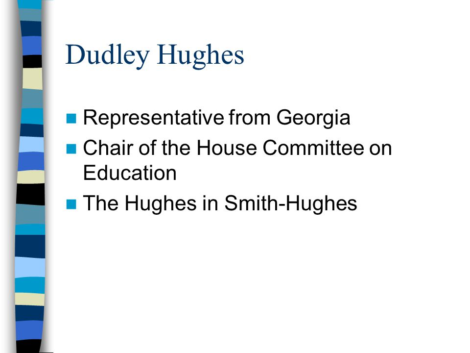 Dudley Hughes Representative from Georgia