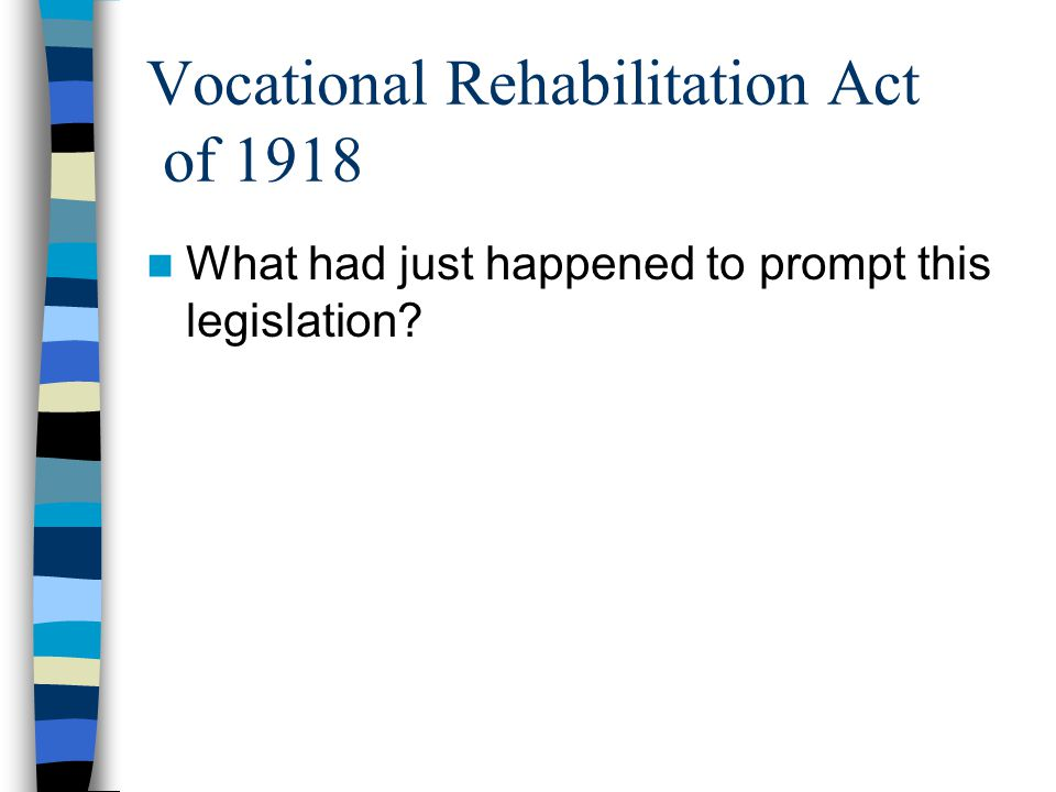 Vocational Rehabilitation Act of 1918