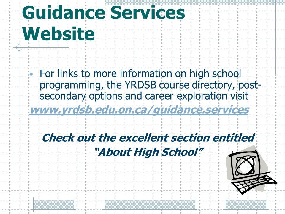 Guidance Services Website