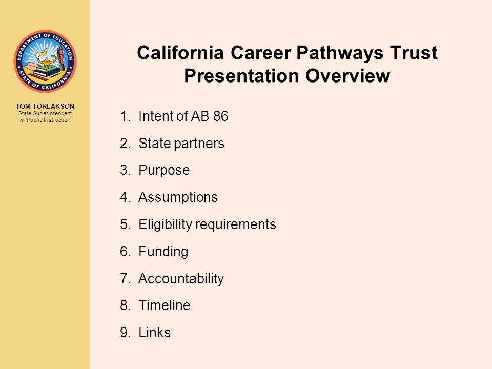 California Career Pathways Trust Presentation Overview