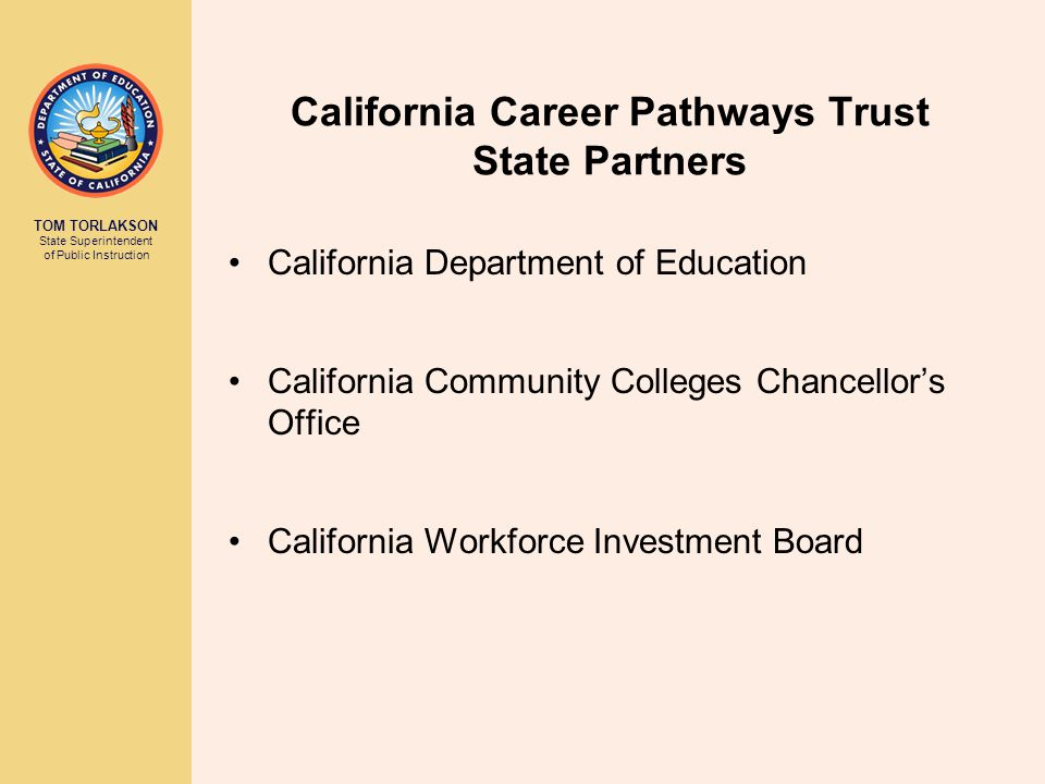 California Career Pathways Trust State Partners