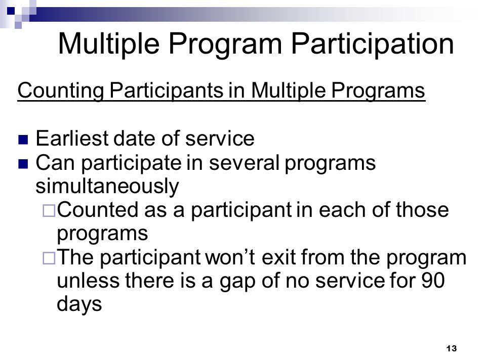 Multiple Program Participation