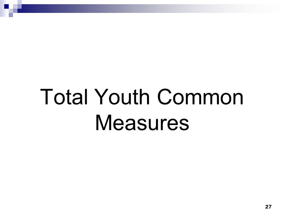 Total Youth Common Measures