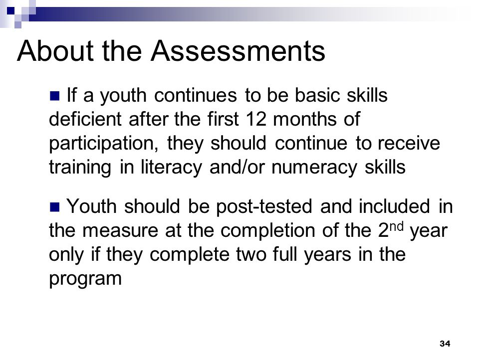 About the Assessments