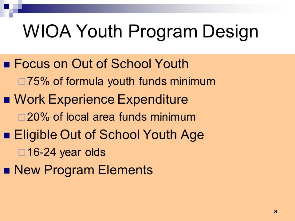 WIOA Youth Program Design