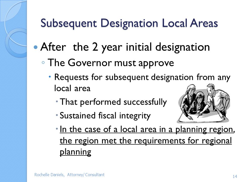 Subsequent Designation Local Areas