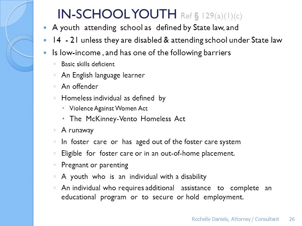 IN-SCHOOL YOUTH Ref § 129(a)(1)(c)