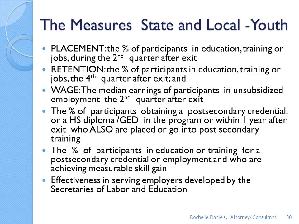 The Measures State and Local -Youth