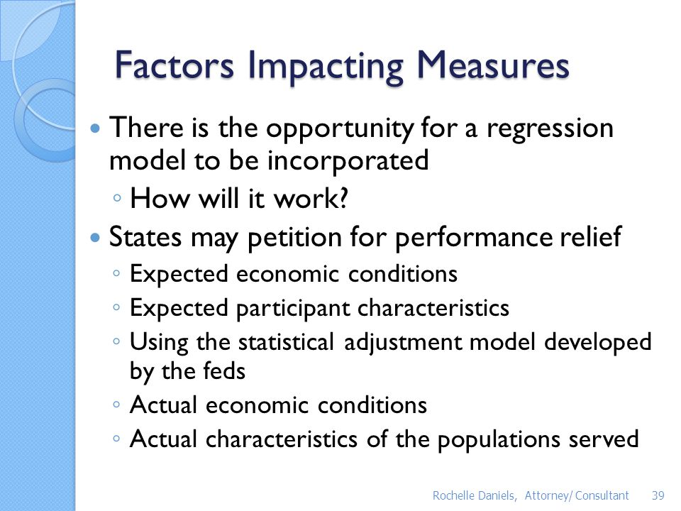 Factors Impacting Measures