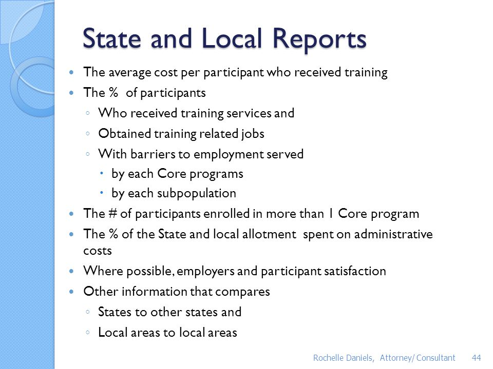 State and Local Reports