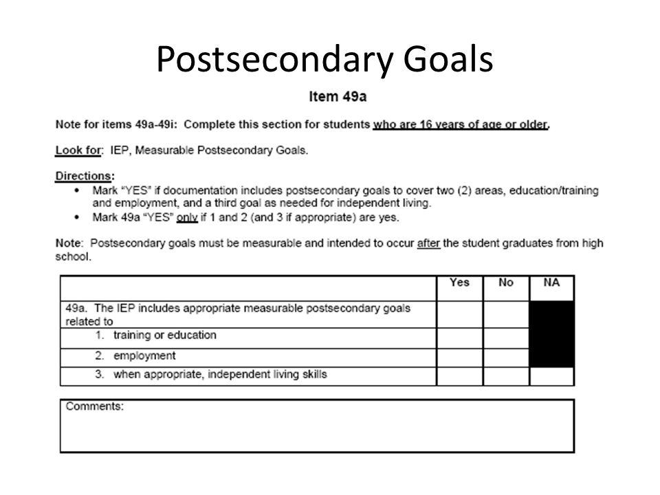 Postsecondary Goals Apr-17 Handout: Kentucky Transition Requirements