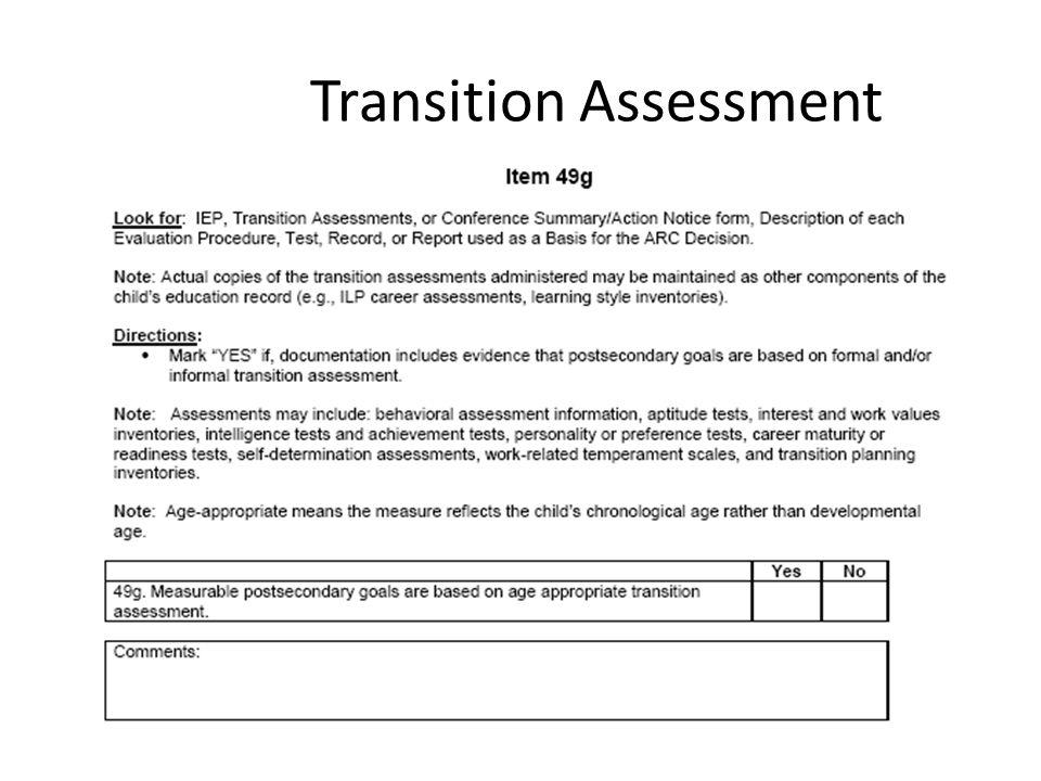 Transition Assessment