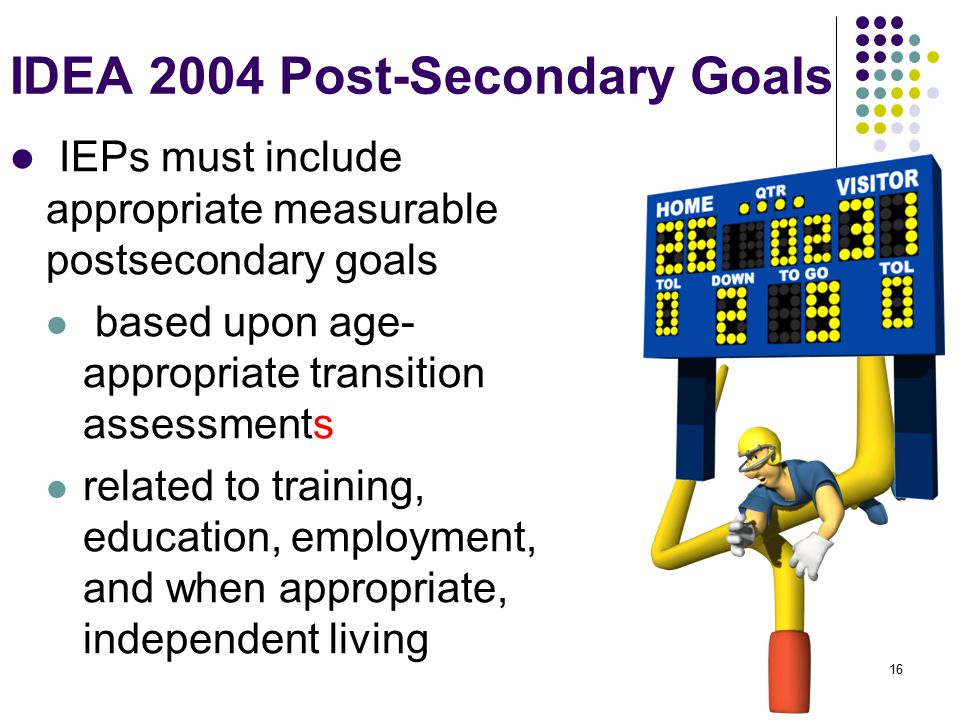 IDEA 2004 Post-Secondary Goals