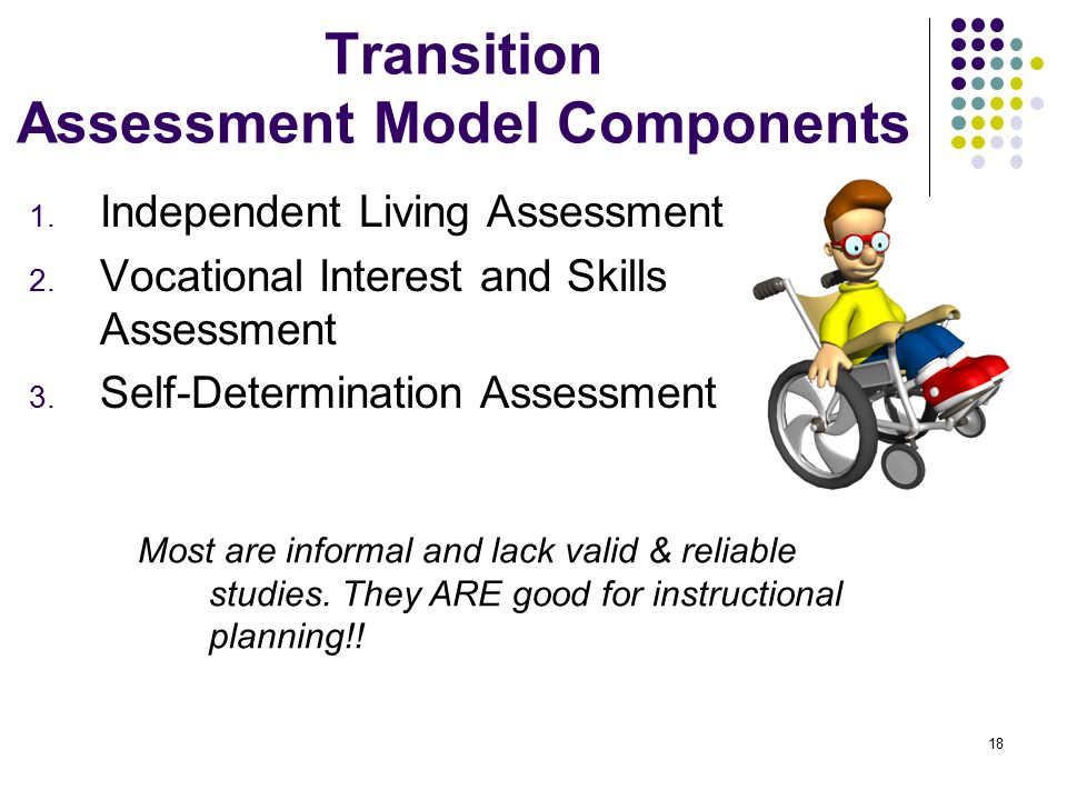 Transition Assessment Model Components