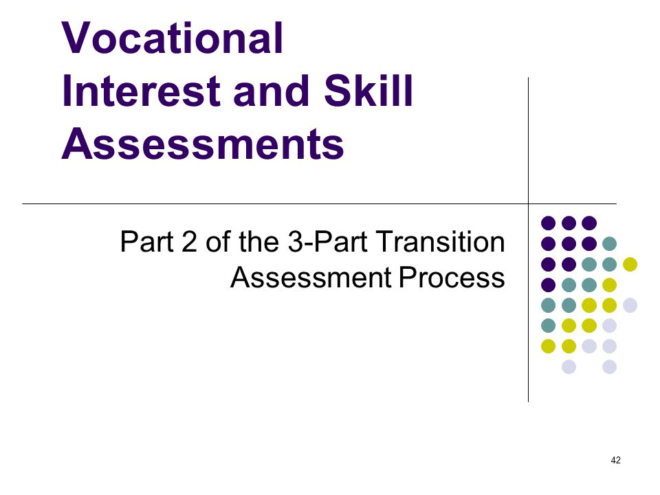 Vocational Interest and Skill Assessments