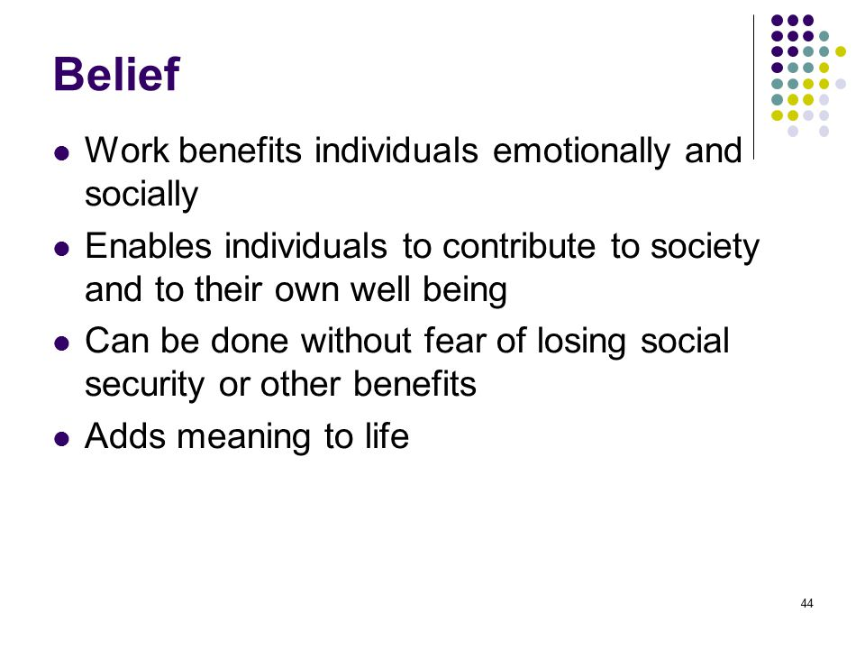 Belief Work benefits individuals emotionally and socially