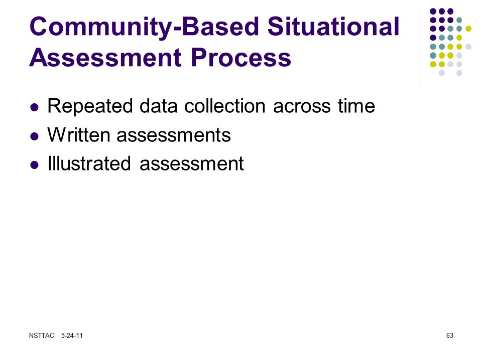 Community-Based Situational Assessment Process