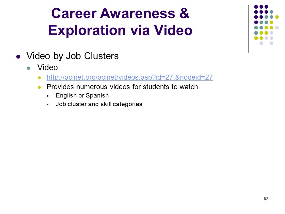 Career Awareness & Exploration via Video