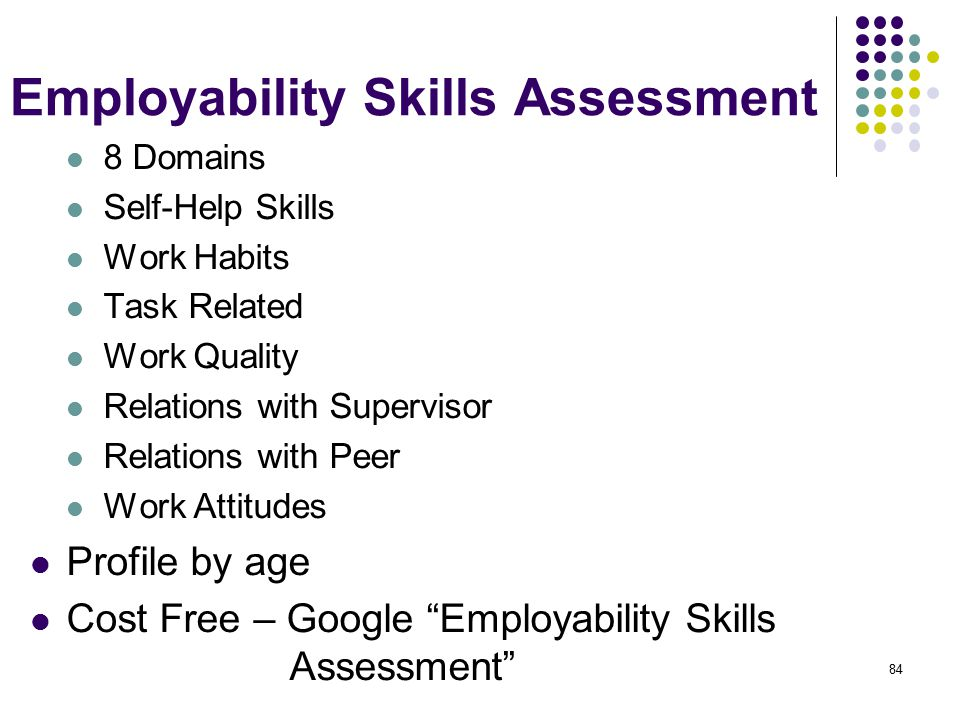 employability skills to work in a
