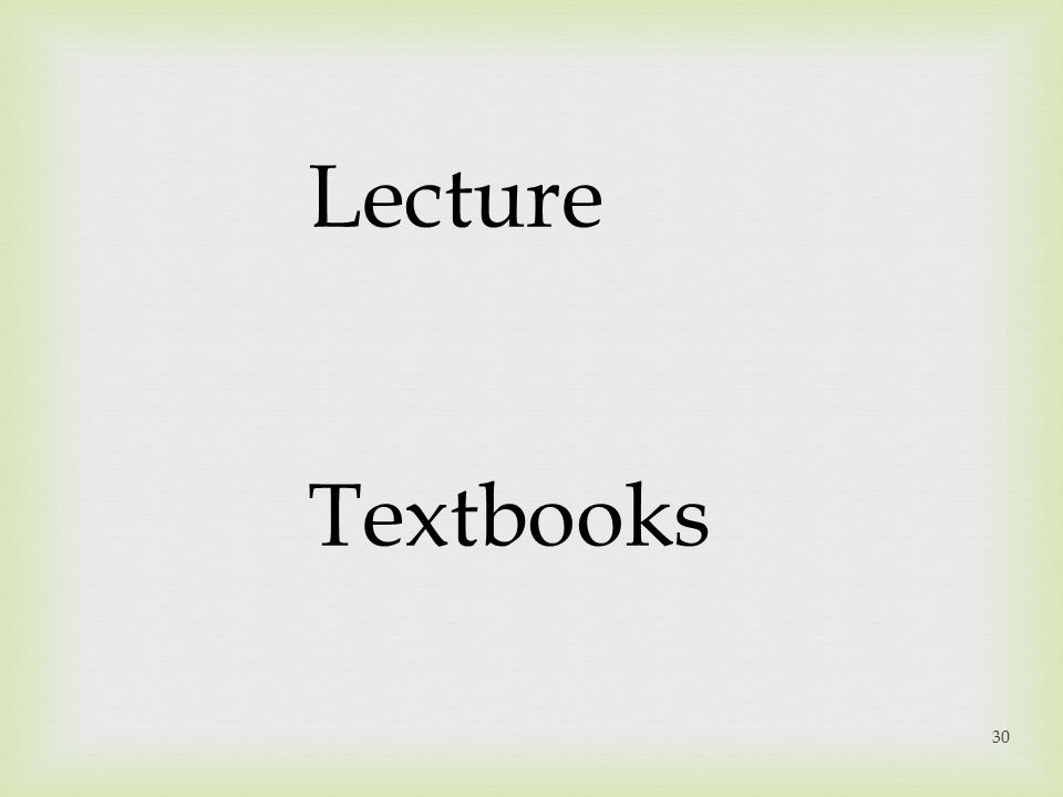 Lecture Textbooks