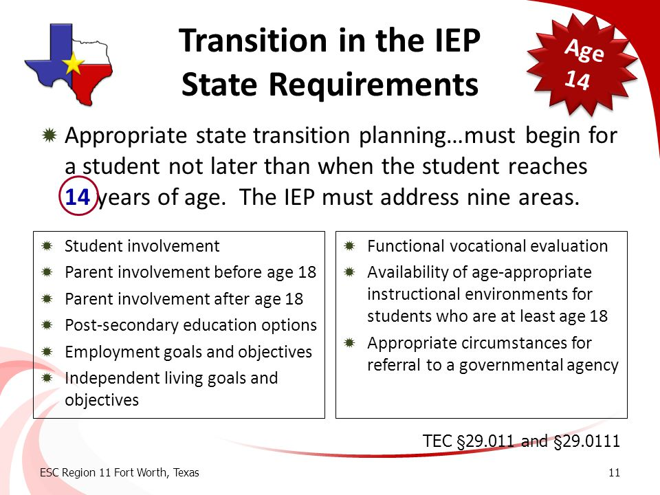 Transition in the IEP State Requirements