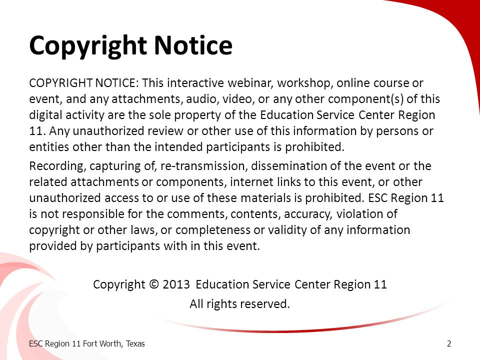 Transition Hot Topics Copyright Notice.