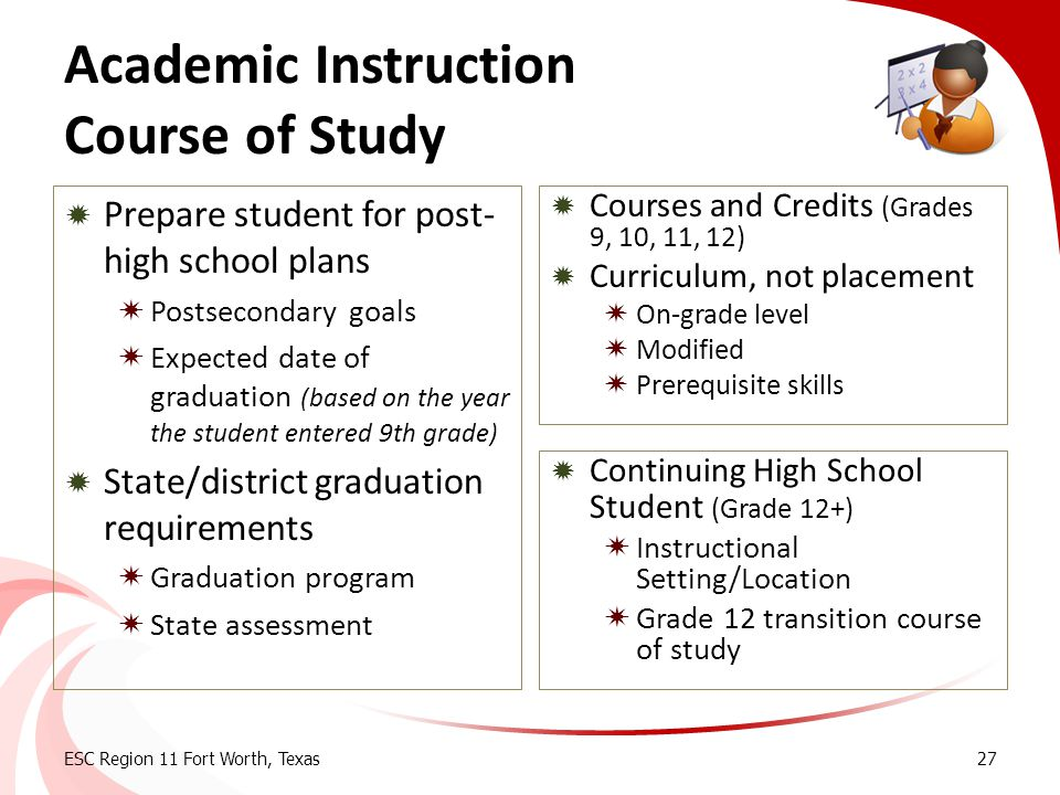 Academic Instruction Course of Study