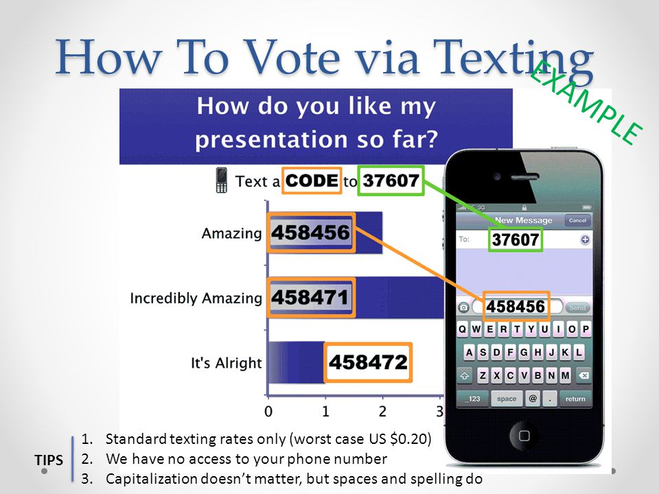 How To Vote via Texting EXAMPLE