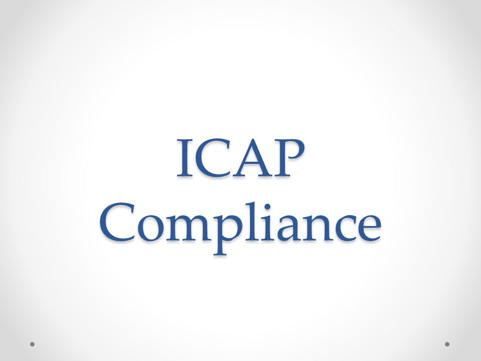 ICAP Compliance